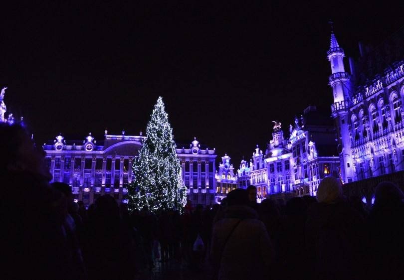 Les lumières de noël à Bruxelles