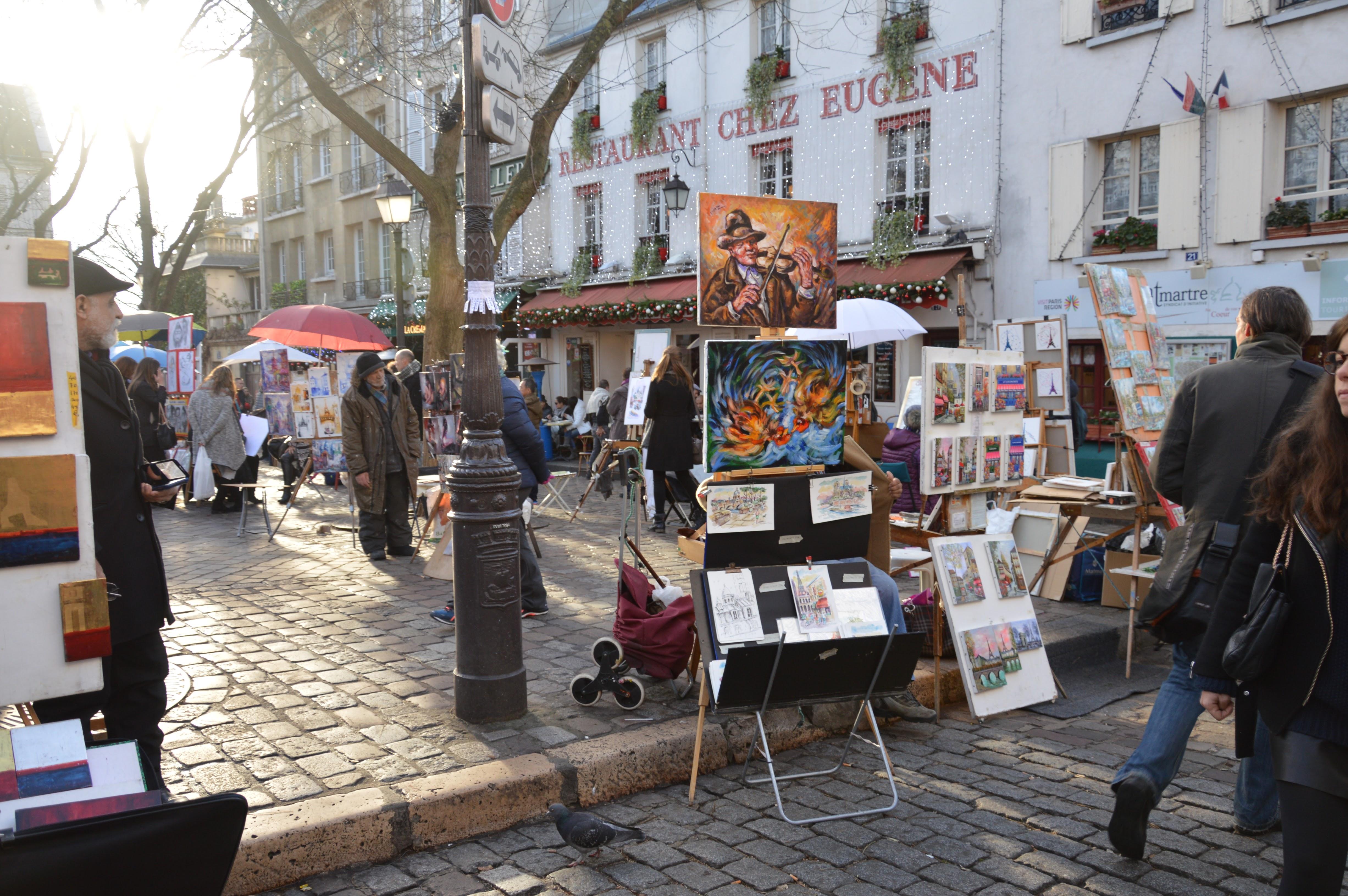 Place du Tertre – Quartier Montmartre – Paris – Voyages ici et ailleurs